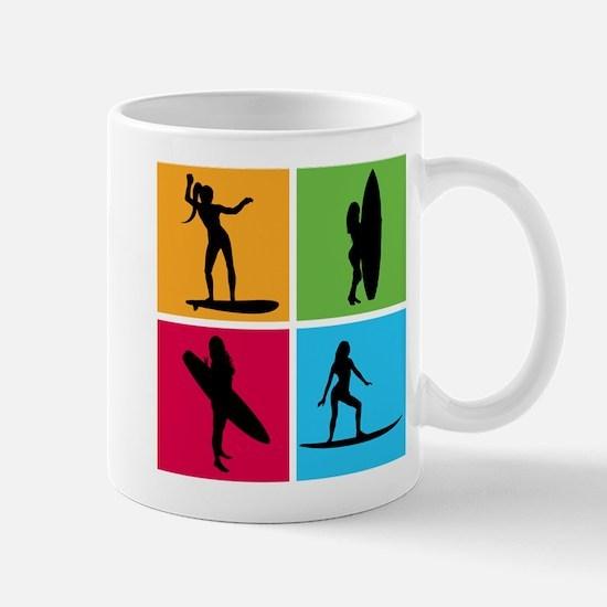various surfing girls Mug