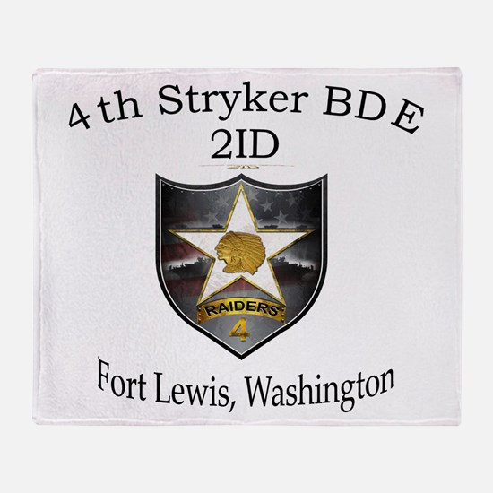 4the BDE 2ID Throw Blanket