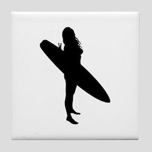 surfing Tile Coaster