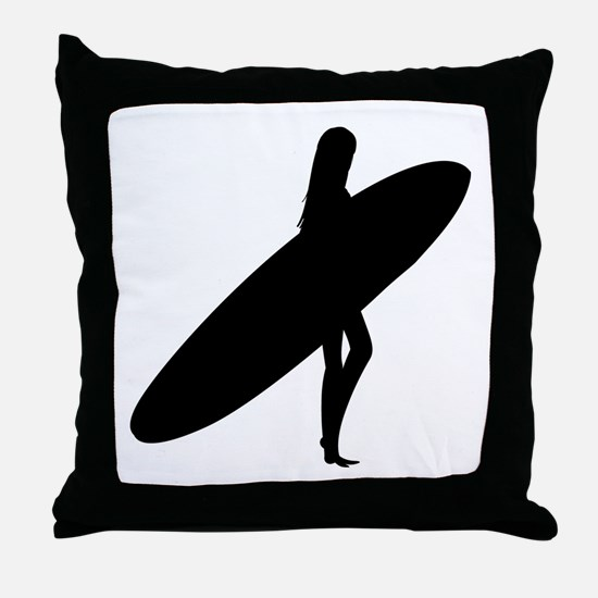 surfing Throw Pillow