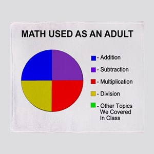 Math Used As Adult Throw Blanket
