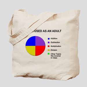 Math Used As Adult Tote Bag