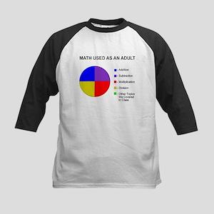 Math Used As Adult Kids Baseball Jersey