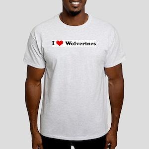 I Love Wolverines Ash Grey T-Shirt