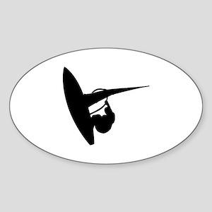 surfing Sticker (Oval)