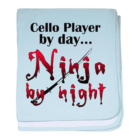 Cello Ninja baby blanket