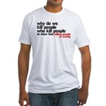 Killing People Is Wrong Fitted T-Shirt