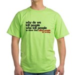 Killing People Is Wrong Green T-Shirt