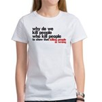 Killing People Is Wrong Women's T-Shirt