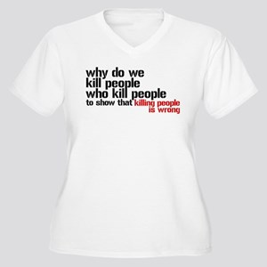Killing People Is Wrong Women's Plus Size V-Neck T