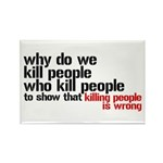 Killing People Is Wrong Rectangle Magnet