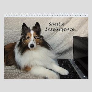 Sheltie Intelligence Funny Wall Calendar