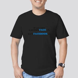 Face ur Problems Men's Fitted T-Shirt (dark)