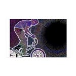 WillieBMX The Glowing Edge 38.5 x 24.5 Wall Peel