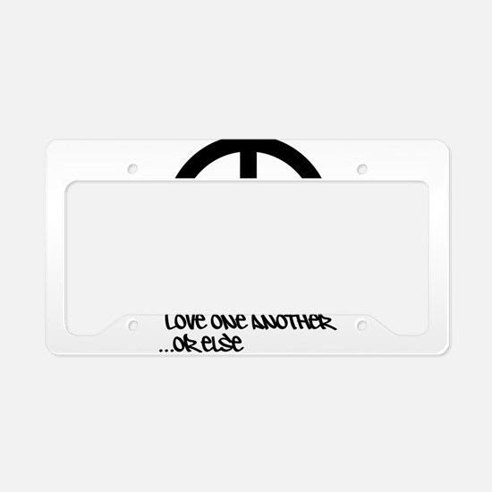 Unique Love one another License Plate Holder
