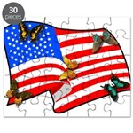 American Flag Butterflies Puzzle