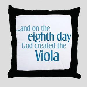 Viola Creation Throw Pillow