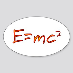 Incandescent Relativity Oval Sticker
