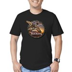 Men's Fitted Duck Hunting T-Shirt (dark)