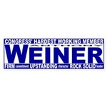 Firm Upstanding Weiner Sticker (Bumper)