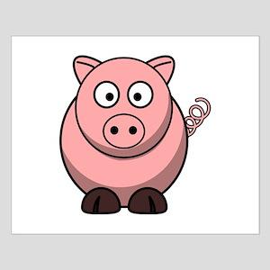 Cartoon Pig Small Poster
