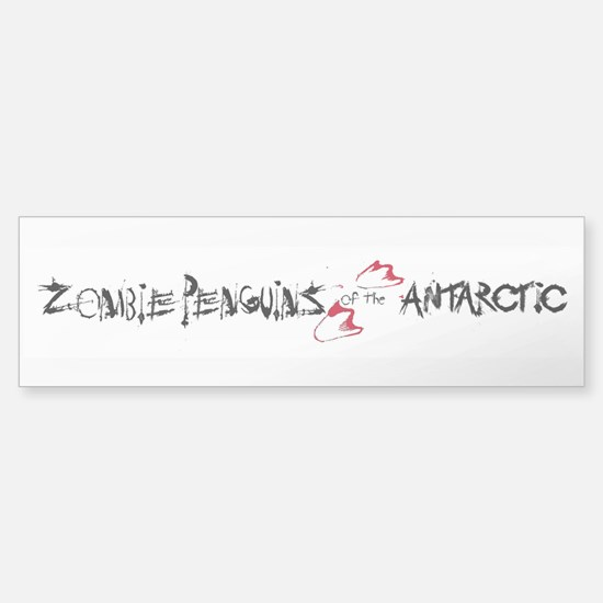 Zombie Penguins Sticker (Bumper)