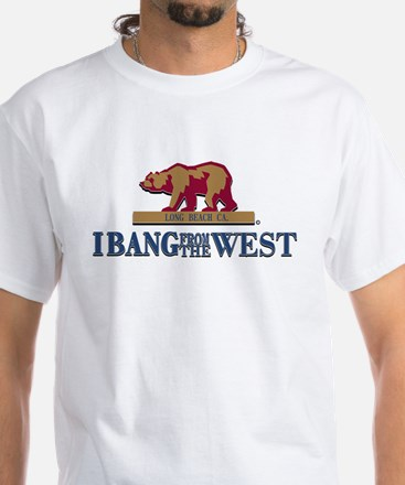 I Bang From The West Long Bea White T-Shirt