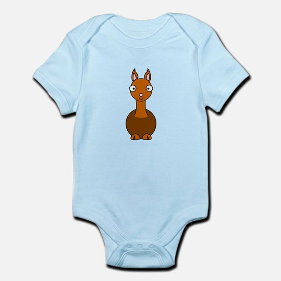 Cartoon Llama Infant Bodysuit