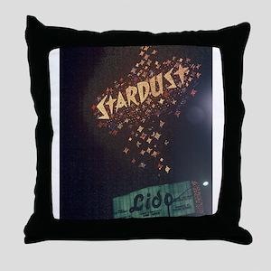 Las Vegas Stardust Hotel Throw Pillow