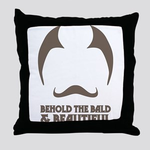 Bald and Beautiful Throw Pillow
