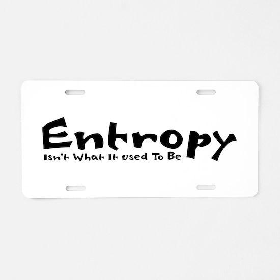 Entropy Aluminum License Plate