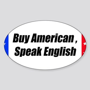 American Bumper-Sticker Sticker (Oval)