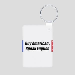 American Bumper-Sticker Aluminum Photo Keychain