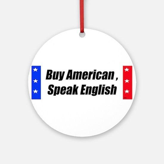 American Bumper-Sticker Ornament (Round)