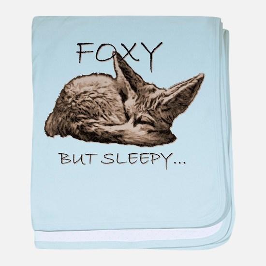 FOXY BUT SLEEPY... baby blanket