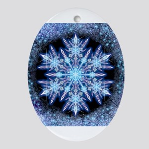 October Snowflake Ornament (Oval)