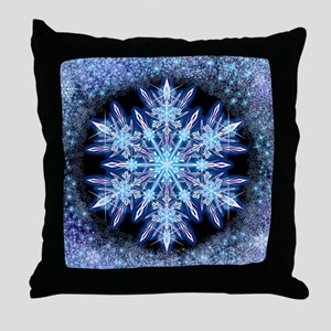 October Snowflake Throw Pillow