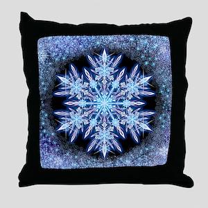 October Snowflake Throw Pillow