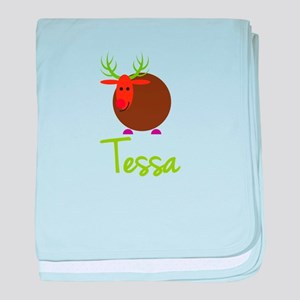 Tessa the Reindeer baby blanket