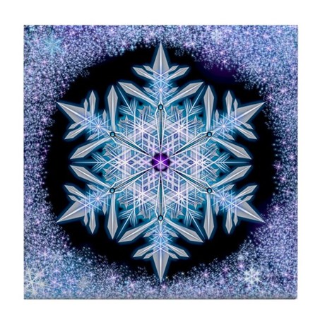 November Snowflake Tile Coaster
