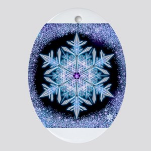 November Snowflake Ornament (Oval)