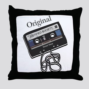 "Justified $ociety ""Original"" Throw Pillow"
