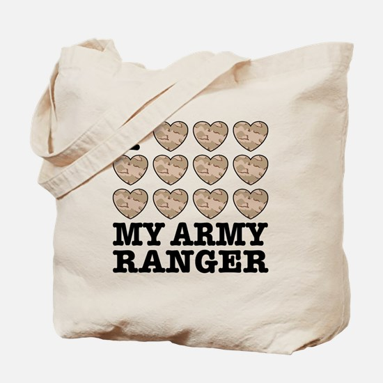 I Love My Army Ranger Tote Bag