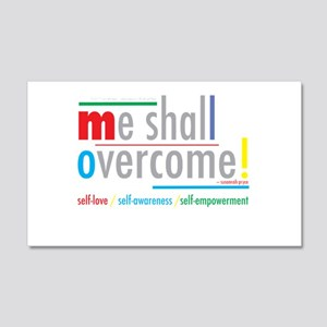 me shall overcome 22x14 Wall Peel