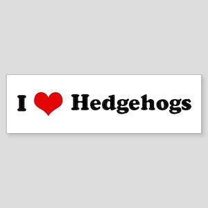I Love Hedgehogs Bumper Sticker