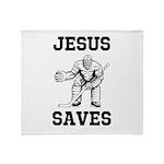 Jesus Saves - Hockey 1 Throw Blanket