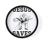 Jesus Saves - Hockey 1 Wall Clock