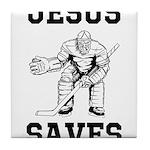 Jesus Saves - Hockey 1 Tile Coaster