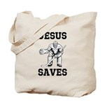 Jesus Saves - Hockey 1 Tote Bag
