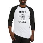 Jesus Saves - Hockey 1 Baseball Jersey